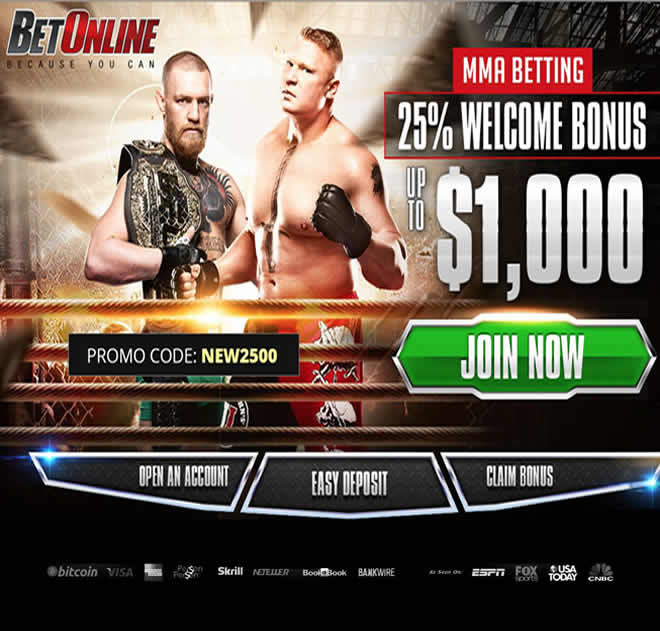BetOnline MMA Screen Shot
