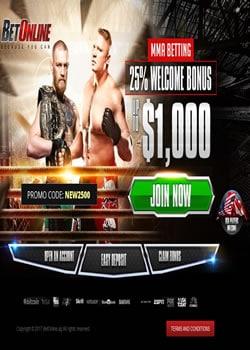 Betonline MMA Screenshot
