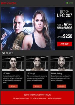 Bovada MMA Screenshot